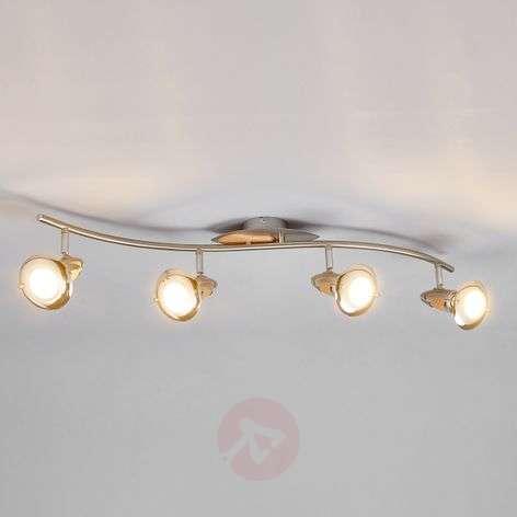 4-light wooden ceiling light Sharleen