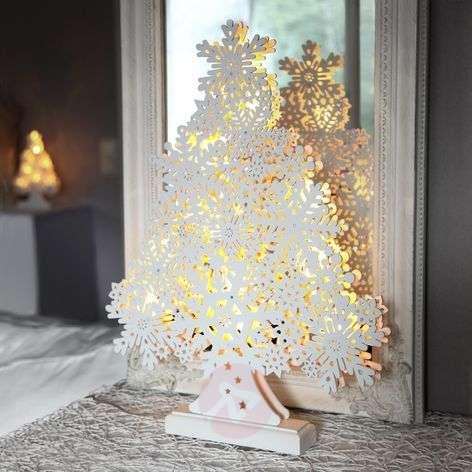 45cm high LED window candle Winter Tree