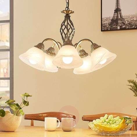 5-bulb hanging light Mialina