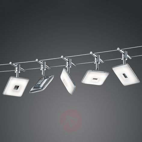 5-bulb LED cable lighting system Pontius