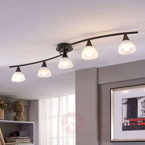 5-bulb LED ceiling light Della, elongated