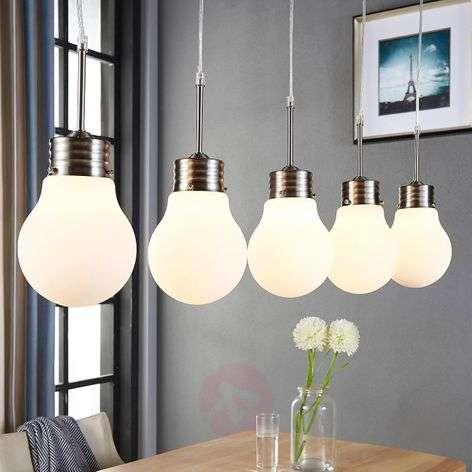 5-bulb LED pendant lamp Bado, dimmable via switch