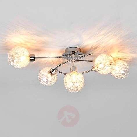 5-light halogen ceiling light Paulina