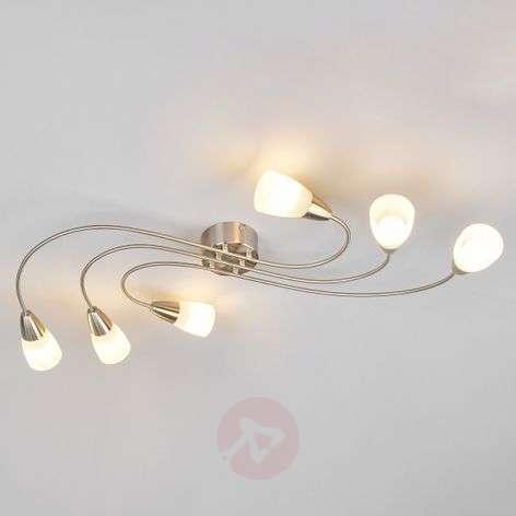 6-light E14 LED ceiling light Zariah