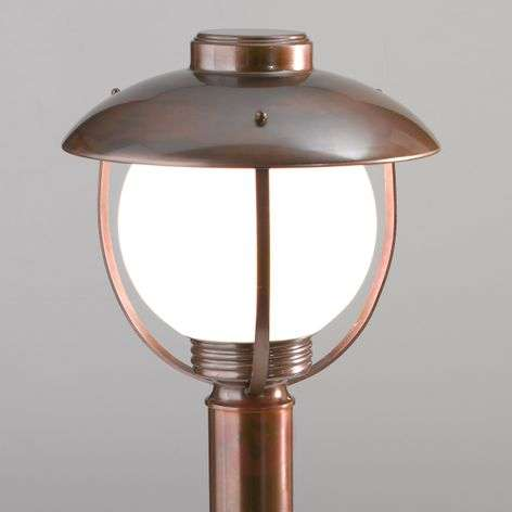 60cm high Brezza pillar light, burnished