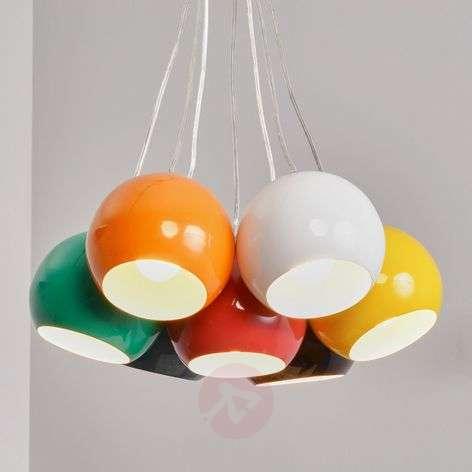 7-light colourful pendant light Pepa