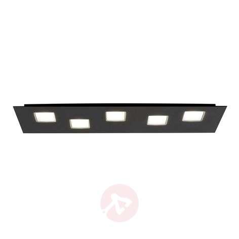 70cm long Quarter LED ceiling lamp, black