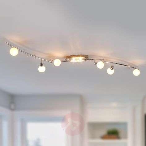 8-bulb LED ceiling light Evaletta, G9 lamps