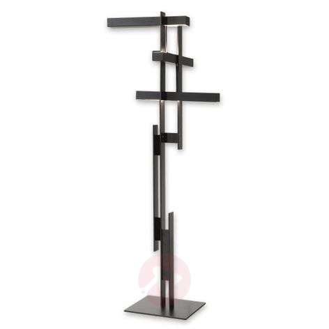 Abstract LED floor lamp Las in matt black