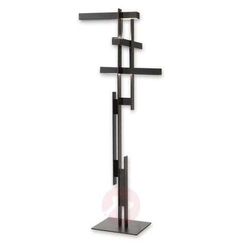 Abstract LED floor lamp Las in matt black-7265094-31