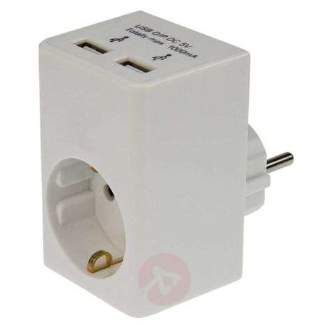 Adapter with USB charging function