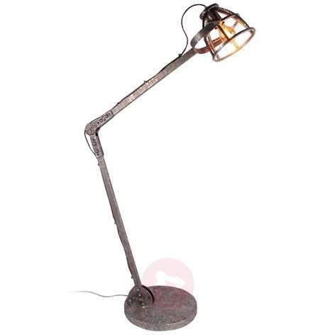 Adjustable floor lamp Century with cage lampshade