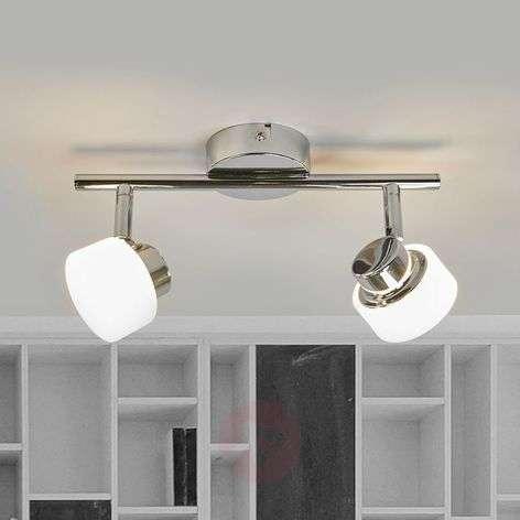 Adjustable LED ceiling lamp Shia, chrome-plated