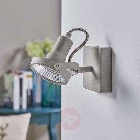 Adjustable LED spotlight Pieter with concrete look