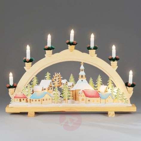 Advent candle arch Christmas Village, 57 cm