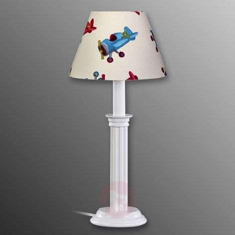 Aeroplane fabric table lamp