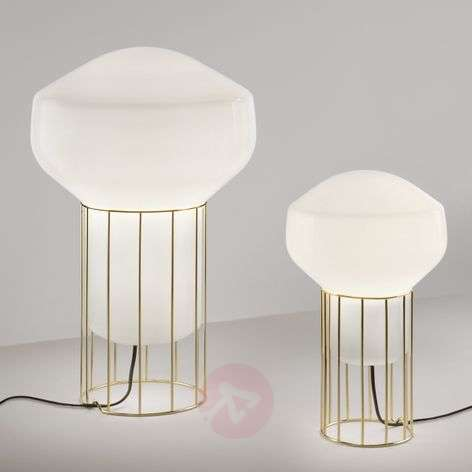Aérostat designer table lamp with brass base