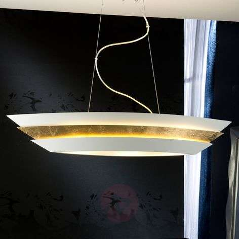 Aesthetic hanging light Isis with gold leaf