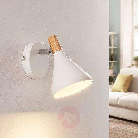 Aesthetic LED wall light Arina in white