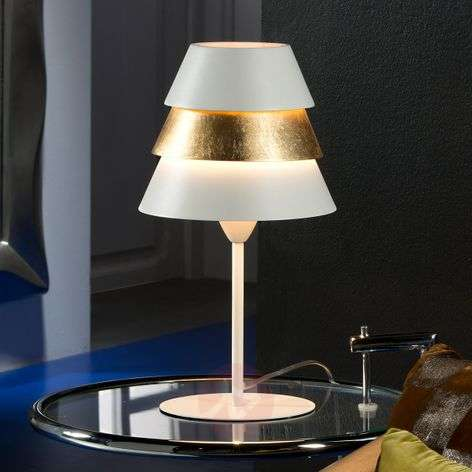 Aesthetic table lamp Isis with gold leaf