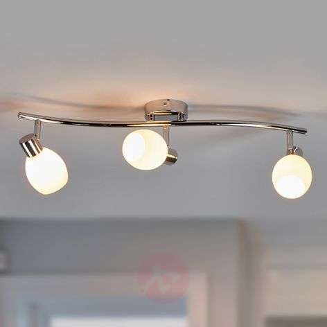 Aidan - G9 LED ceiling light with glass lampshades
