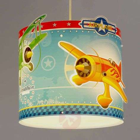 Airplane - pendant light with airplanes