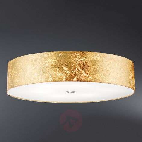 Alea Loop ceiling light with gold leaf