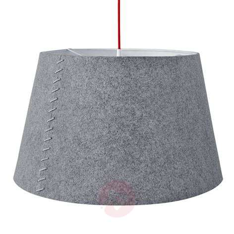 Alice - grey LED hanging light with felt cover