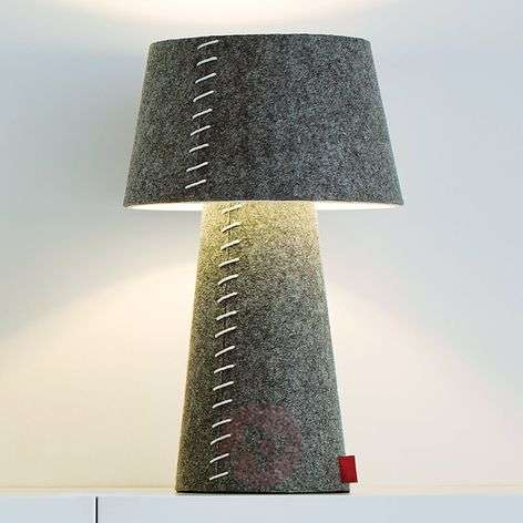Alice - grey LED table lamp with felt casing