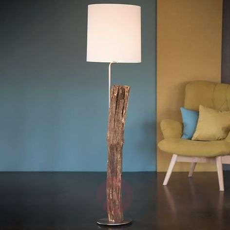 Alter Kavalier wooden floor lamp with a felt shade
