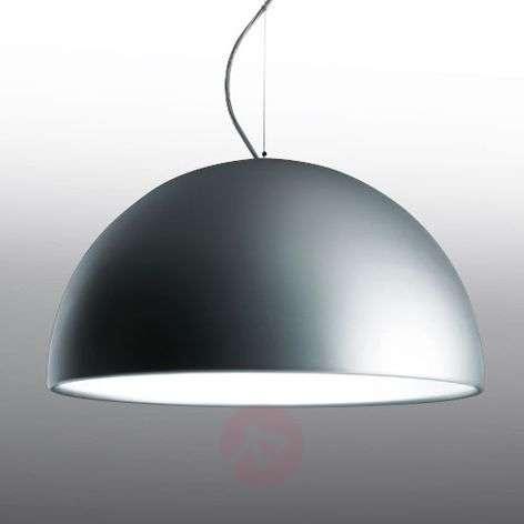 Aluminium-coloured hanging light CUPOLA, 54 cm