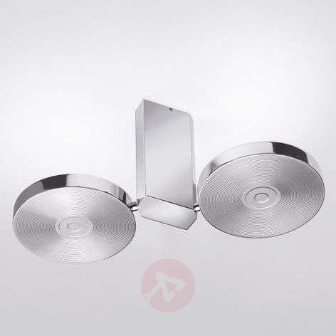 Aluminium-coloured LED ceiling light CIDI