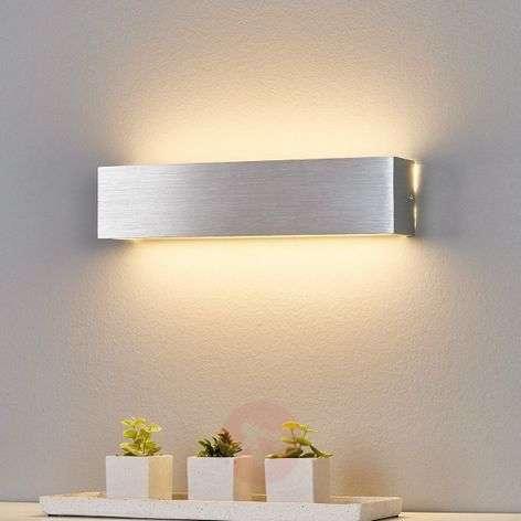 Aluminium-coloured LED wall light Ranik
