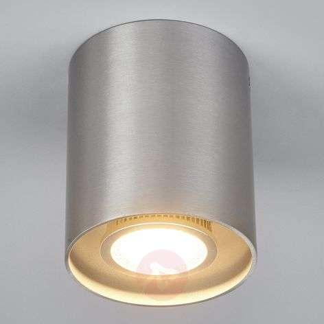 Aluminium-grey ceiling spotlight Carson, round