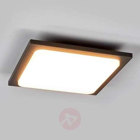 Aluminium LED ceiling lamp Veena in anthracite