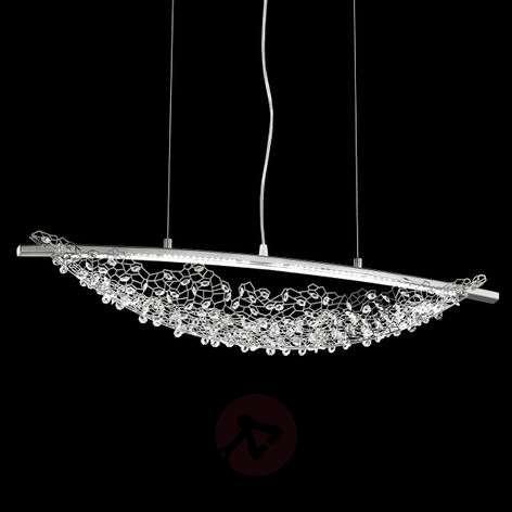 Amaca LED hanging light with Swarovski crystals