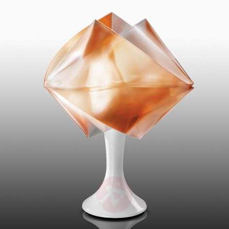 Amber-coloured Gemmy Prism table lamp