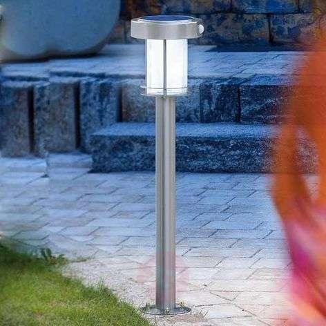 Ancona - LED solar light made of stainless steel
