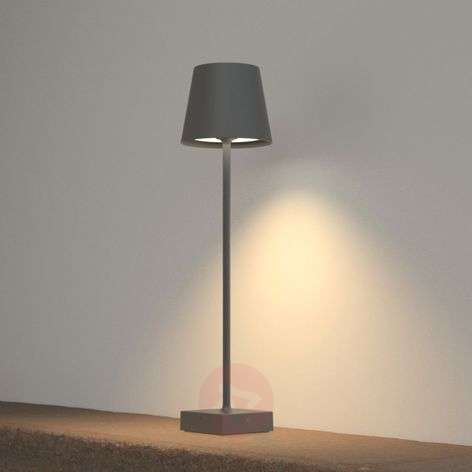 Andrei LED bollard light with dark grey lampshade