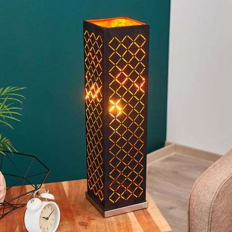 Angular, black-gold table lamp Julita, 57 cm