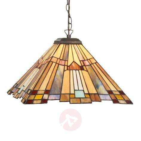 Angular hanging light Esmea in the Tiffany style