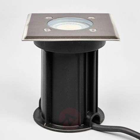 Angular stainless steel recessed floor light Insa