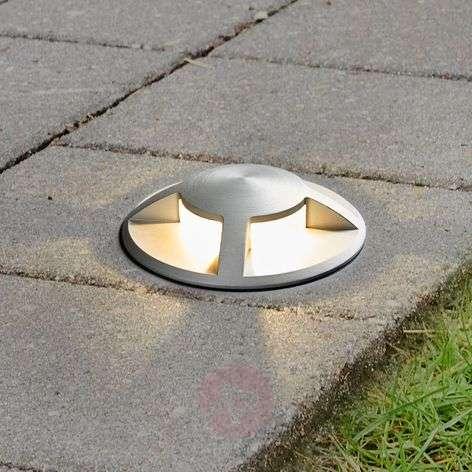 Anina LED recessed floor light, aluminium
