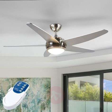 Anneka silver ceiling fan with LED light-4018094-310