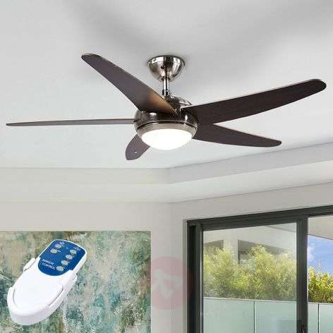 Anneka wenge-coloured ceiling fan with light