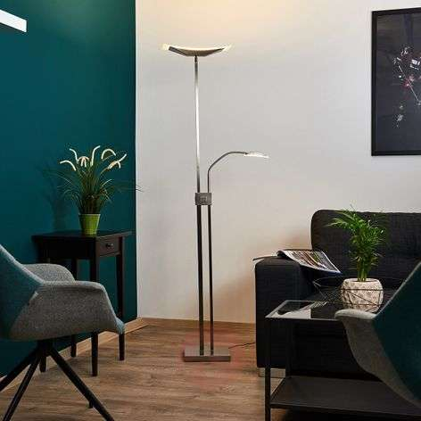 Annik LED floor lamp, uplighter and reading lamp