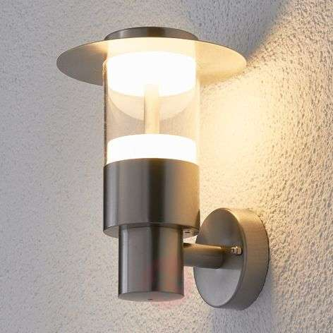 Anouk stainless steel outdoor wall light with LED