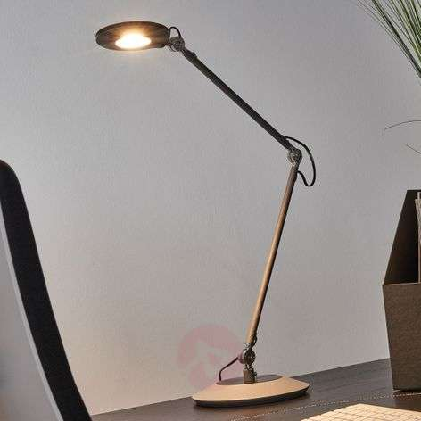 Anthracite-coloured LED table lamp Roderic