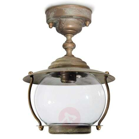 Antique brass ceiling light Olivia