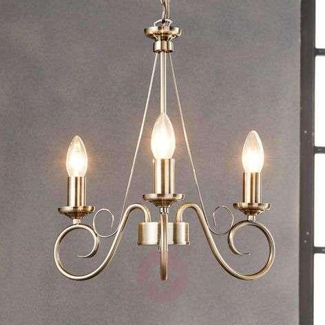 Antique brass chandelier Marnia, 3-bulb-9621014-31